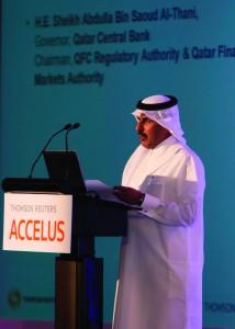 Qatar Central Bank's governor Sheikh Abdulla Bin Saoud Al-Thani