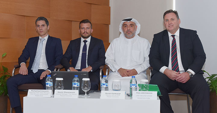 Right to Left – Paul Greenwood, CEO, Massar Solutions, Qusai Kankazar, DCEO, Massar Solutions, Kevin Sheepwash, General Manager – Car Rental, Massar Solutions and Mohamed Kassem, Regional Fleet Sales Manager Fiat Chrysler Automobiles – Middle East