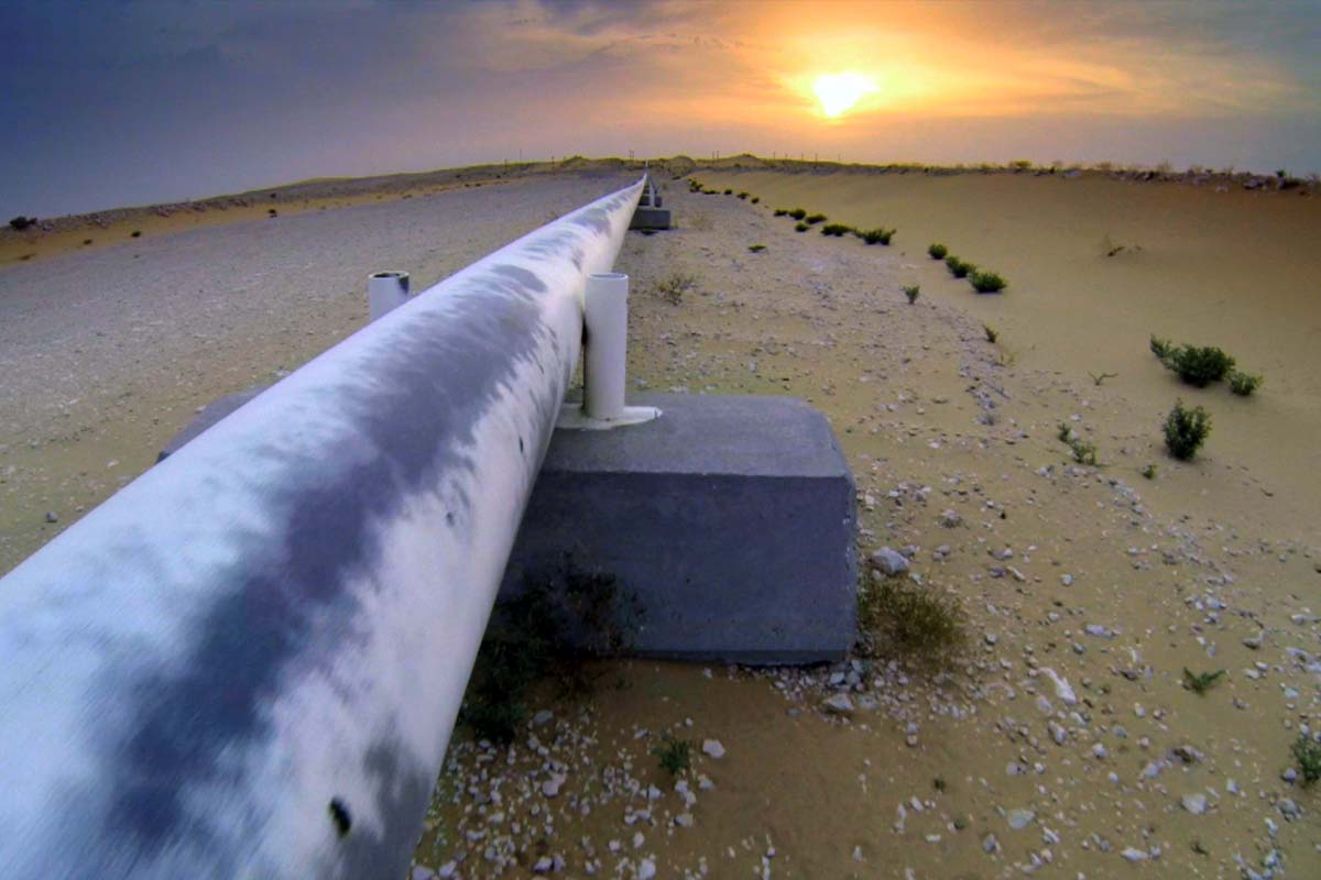 Gas pipeline in Egypt